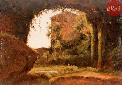 École FRANÇAISE du XIXe siècle Paysage Papier...