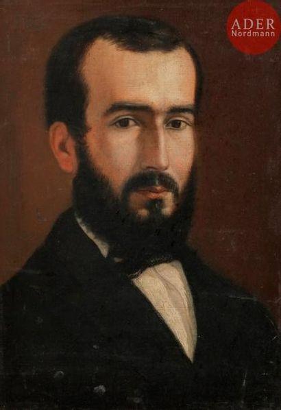 École FRANÇAISE du XIXe siècle Portrait d'homme...