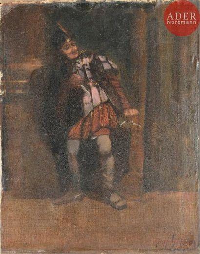 École FRANCAISE du XIXe siècle Spadassin...