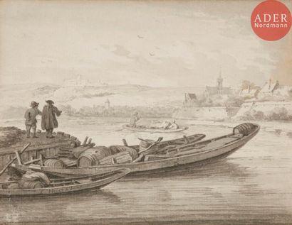 École HOLLANDAISE du XVIIIe siècle Paysages...