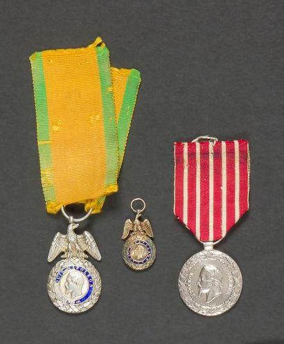 FRANCE - SECOND EMPIRE Trois médailles :...