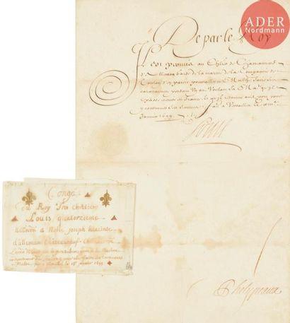ECOLE FRANCAISE 1699 Congé accordé par le...