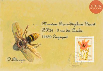 Didier ALTMEYER (né en 1958) L'abeille Huile...