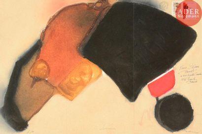 Erik BERSOU (1953-2014) Souvenirs, 2007 Gravure...