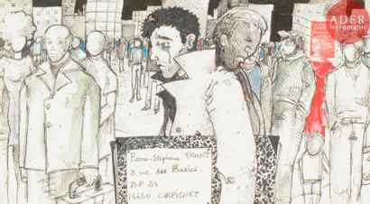 Jean-Baptiste BIZET L'artiste dans la foule....