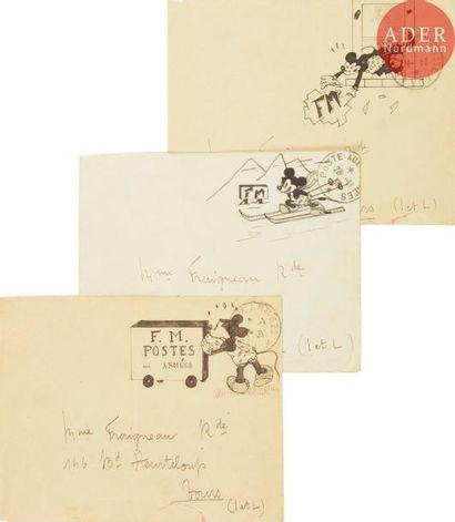 ECOLE FRANCAISE VERS 1940 Mickey d'après...