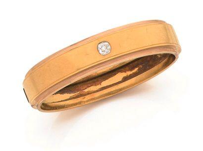 Bracelet ouvrant en deux tons d'or 18K (750...