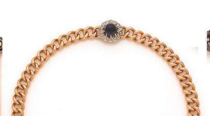 Bracelet en or 18K (750 ‰), articulé de maillons...