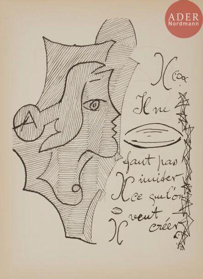 BRAQUE (Georges). Cahier de Georges Braque....