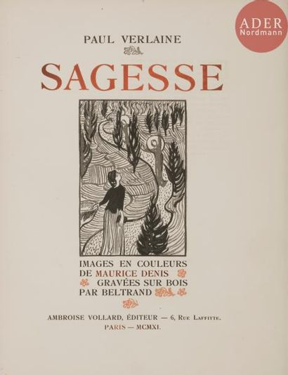 [DENIS (Maurice)] - VERLAINE (Paul). Sagesse....