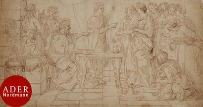 ÉCOLE FRANÇAISE du XVIIe siècle Scène de...