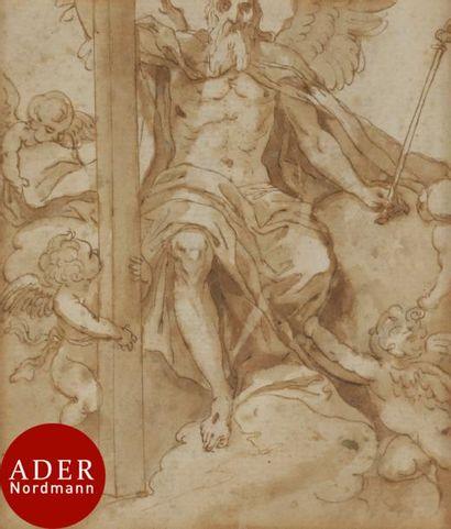 ÉCOLE ESPAGNOLE du XVIIe siècle 3 feuilles...
