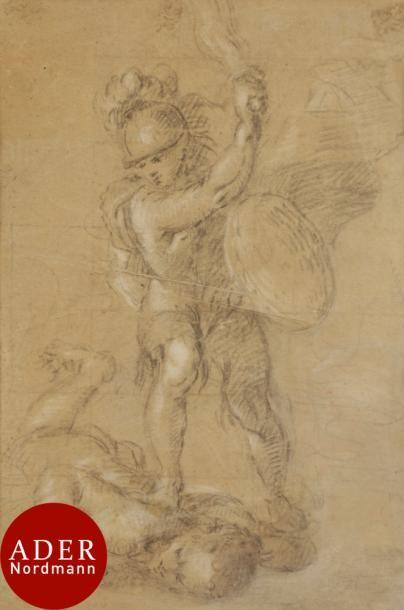 ÉCOLE ESPAGNOLE du XVIIe siècle Saint Michel...