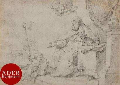 ÉCOLE ITALIENNE du XVIIIe siècle Saint Augustin...