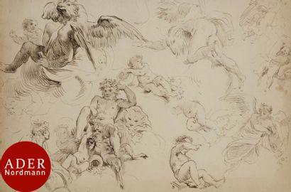 ÉCOLE ITALIENNE du XVIIIe siècle Feuille...
