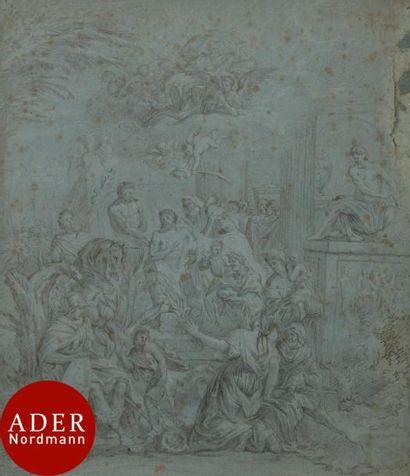 ÉCOLE FRANÇAISE début XVIIIe siècle Le Christ...