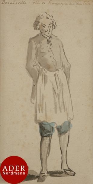 ÉCOLE FRANÇAISE du XVIIIe siècle 2 acteurs...
