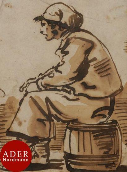 ÉCOLE FRANÇAISE du XVIIIe siècle Matelot...