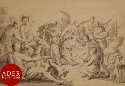 ÉCOLE FRANÇAISE du XVIIIe siècle L'Adoration...