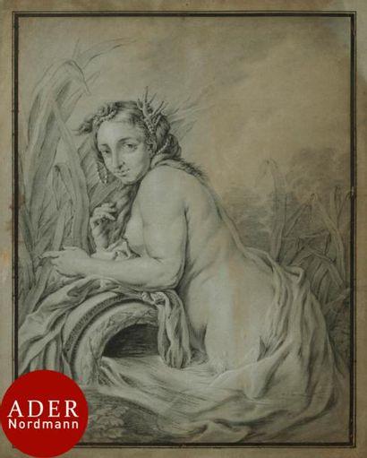 Jean Hugues TARAVAL (Paris 1729-1785) Naïade,...