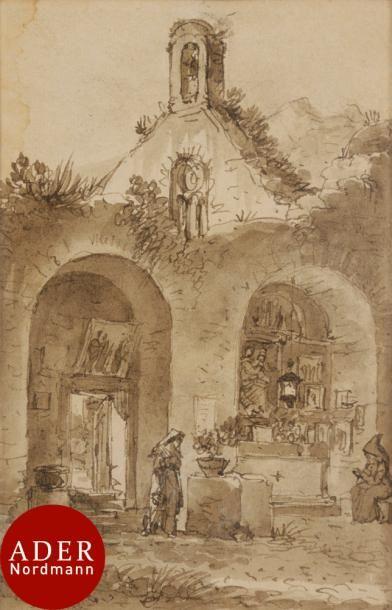 Victor-Jean NICOLLE (Paris 1754-1826) Ermitage...