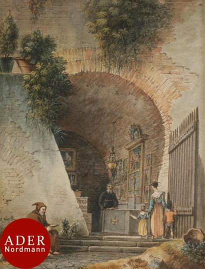 Victor-Jean NICOLLE (Paris 1754-1826) Chapelle...
