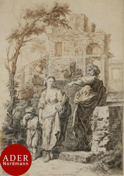 ÉCOLE AUTRICHIENNE du XVIIIe siècle Agar...