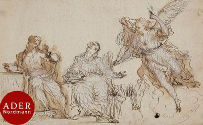 ÉCOLE AUTRICHIENNE du XVIIIe siècle L'Annonciation...