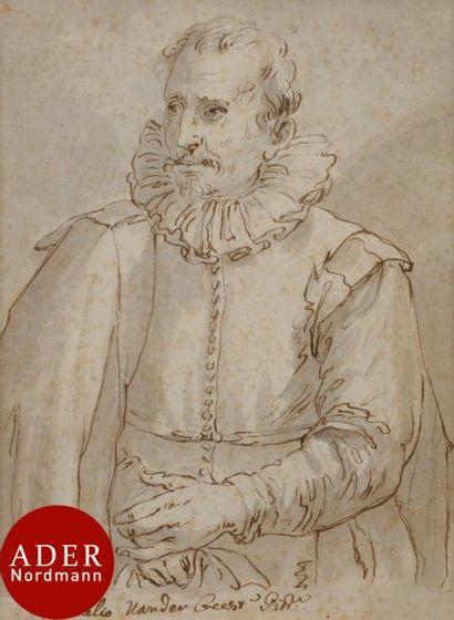 ÉCOLE FLAMANDE du XVIIe siècle Portrait de...