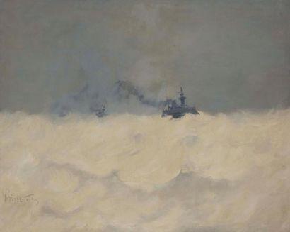 René PRINCETEAU (1843-1914) Bateau dans la...