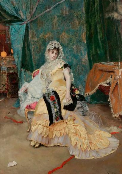Rogelio EGUSQUIZA Y BARRENA (1845-1915) Élégante...