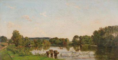 Hippolyte Camille DELPY (1842-1910) Barque...