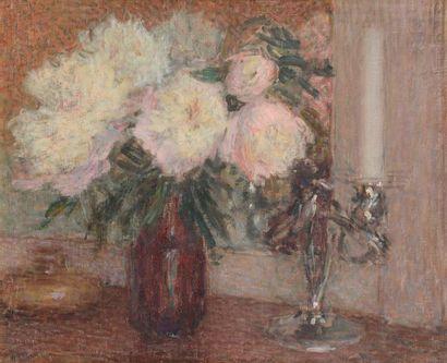 Ernest LAURENT (1859-1929) Vase de fleurs...