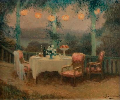 Édith VAUCAMPS (XXe siècle) Soir d'été au...