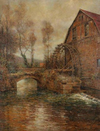 Louis Aston KNIGHT (1873-1948) Le Moulin...