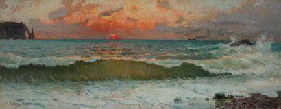 Alexandre NOZAL (1852-1929) Coucher de soleil...