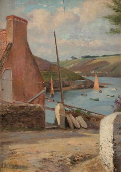 Henri Prosper WIRTH (1869-1947) Port breton...