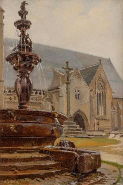 Henri Prosper WIRTH (1869-1947) Fontaine...