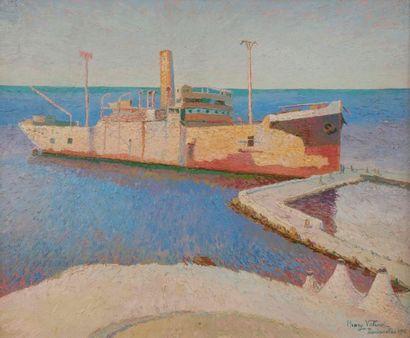 Henri VALENSI (1883-1960) Dardanelles Huile...