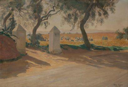 Léon CARRE (1878-1942) Algérie, paysage à...