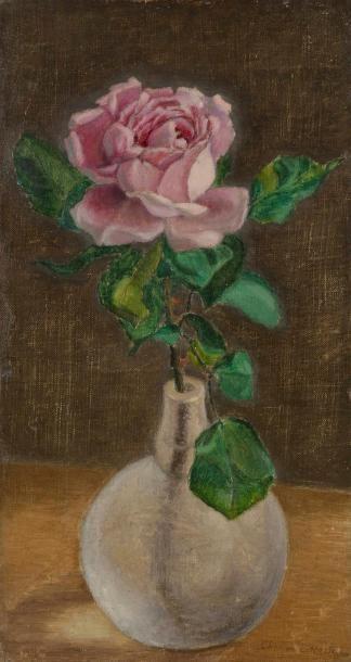 Charles LACOSTE (1870-1959) Rose dans un...