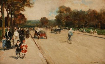 Luigi LOIR (1845-1916) Avenue au bois de...