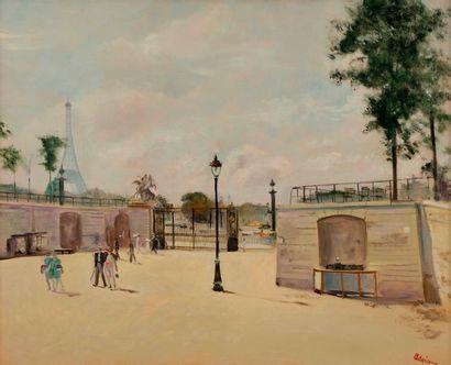 Lucien ADRION (1889-1953) Paris, les Tuileries...