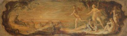 Louis ANQUETIN (1861-1932) Allégorie de Diane...