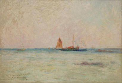 Jean PÉGOT-OGIER (1877-1915) Bord de mer...
