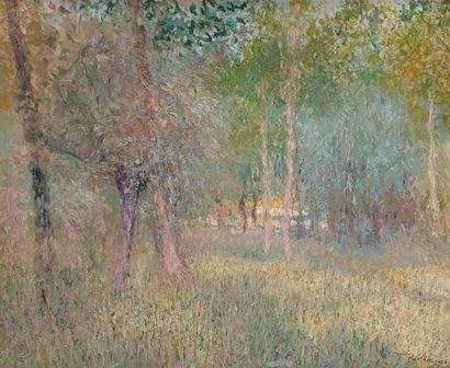 André BARBIER (1883-1970) Sous-bois, 1906...
