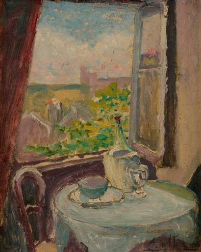 André UTTER (1886-1948) Fenêtre ouverte,...