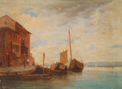 Henriette GUDIN (1825-1876) Vue de Venise,...