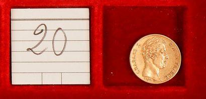 CHARLES X (1824-1830). 20 francs, 1828-A=Paris....
