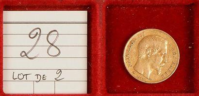 SECOND EMPIRE (1852-1870). LOT de 2 pièces...